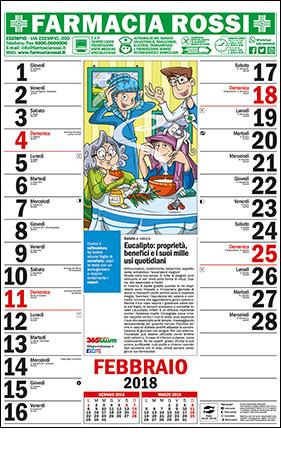 Calendario Della Salute.Calendario Personalizzato Per Farmacie 365 Giorni Di Salute